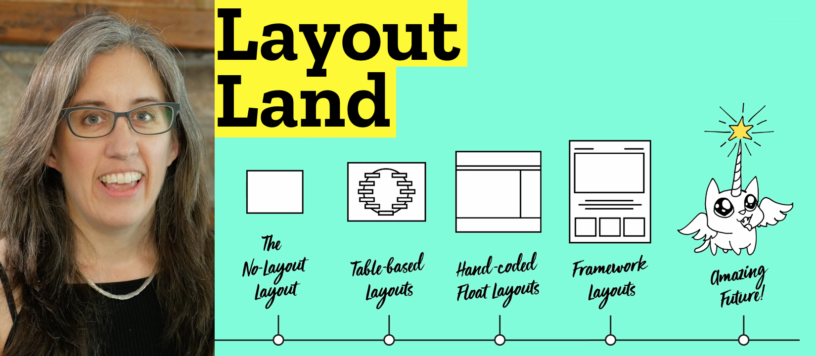 """""""Jen Simmons is doing an absolutely fantastic job teaching us about CSS Grids. It's really exciting to think about old school layouts being fused with new school concepts."""" — Justin French, Product Manager at Envato"""