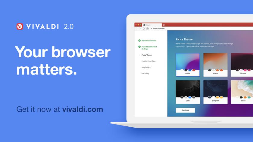Vivaldi — Your browser matters. Take Control.