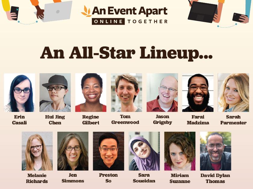 An Event Apart line-up