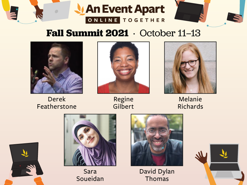 Promo for Fall Summit with speakers as listed in the following copy.