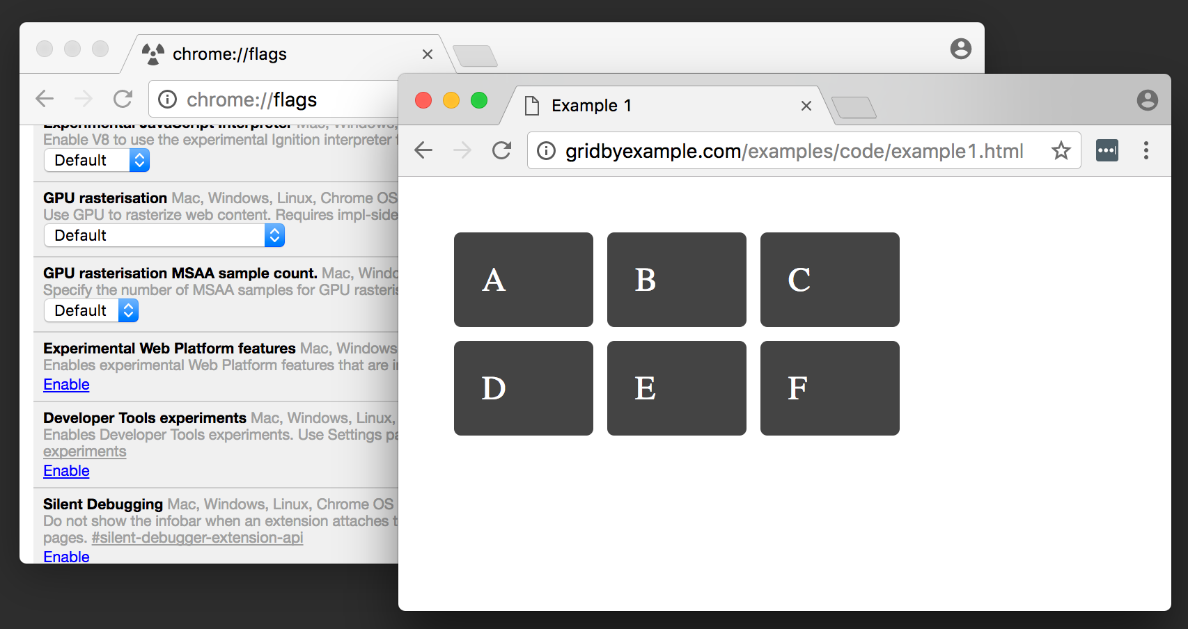 Grid Layout now enabled by default in Chrome Canary